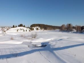 Река Чусовая близ устья речки Трёки. Автор: Михаил Латышев