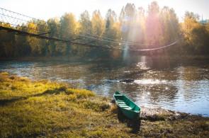 Подвесной мост у поселка Усьва. Автор: Юлия Залалова