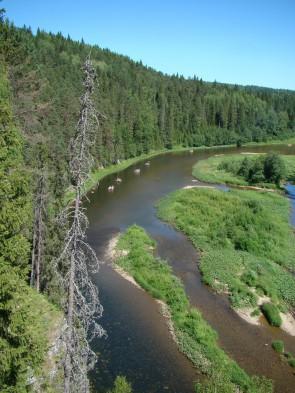 Река Койва сплав