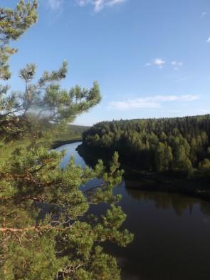 Вид на Чусовую вверх по течению с бойца Осинового.. Автор: Михаил Латышев