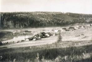 Деревня Кашка в 1940-х годах. Автор: Фото от Елены Дубовцевой, rekachusovaya.ru