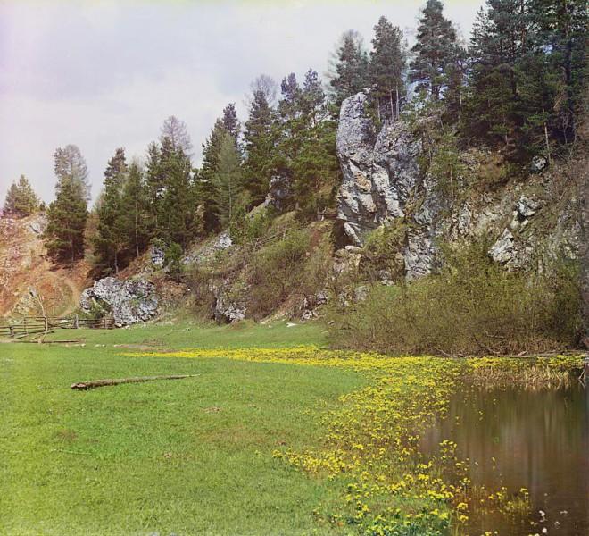 Окрестности камня Шайтан. Фото С.М. Прокудина-Горского от 1912 года. Автор: С.М. Прокудин-Горский