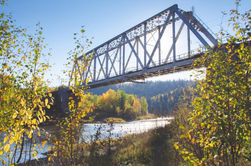 Железнодорожный мост через Усьву. Автор: Юлия Залалова