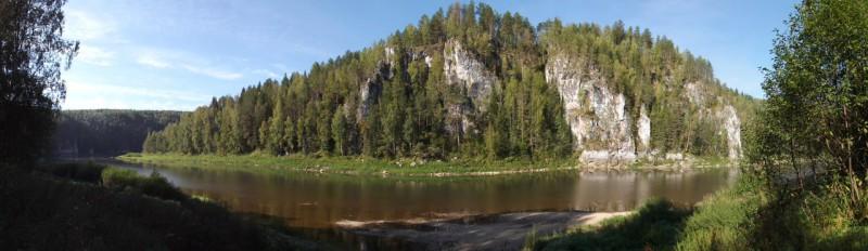 Панорама Чусовой у бойца Писаного. Автор: Дмитрий Латышев