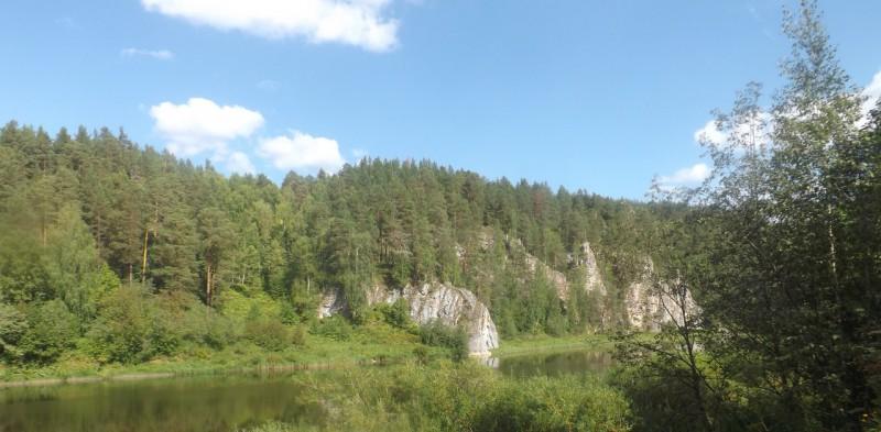 Река Чусовая. Вид на боец Осиновый.. Автор: Михаил Латышев