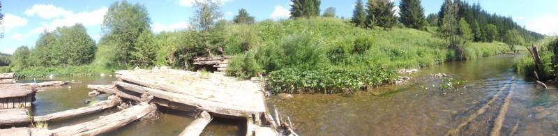Взорванный шлюз плотины на Кашке. Автор: Дмитрий Латышев