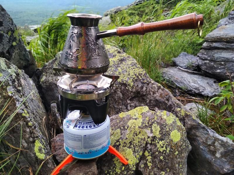Традиционный натуральный кофе в турке. Вторая сопка Уреньги.. Автор: Ирина Аблеева