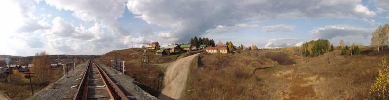 Панорама деревни художников.. Автор: Дмитрий Латышев