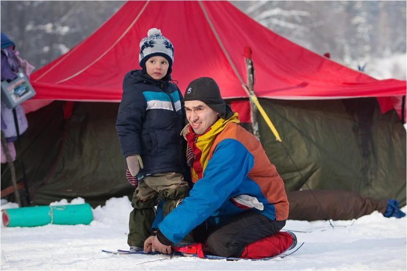 Первая Снежинка нового времени и ее организатор Андрей Безруков с сыном. Автор: Сергей Степанов