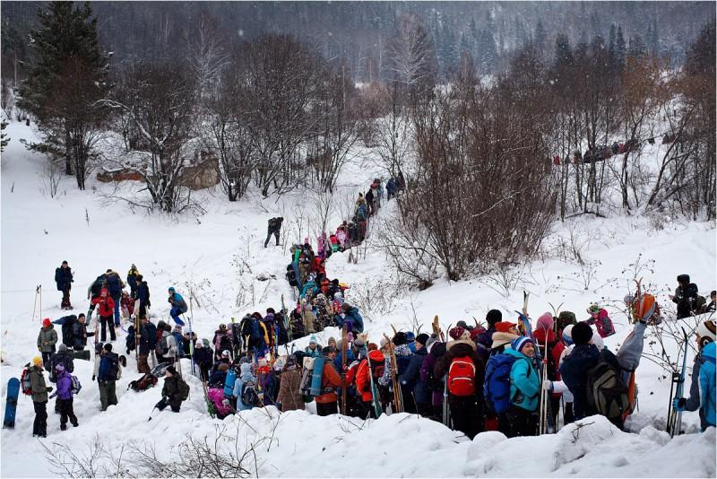 В ожидании электрички, Снежинка-2013. Автор: Сергей Степанов