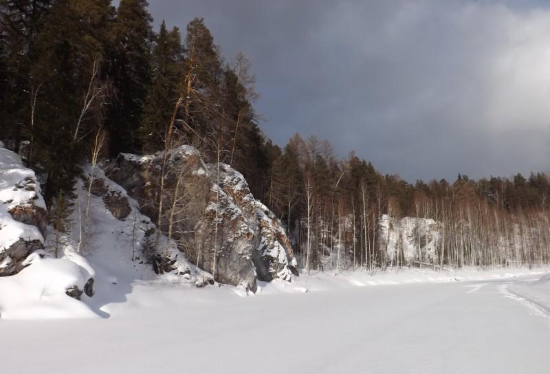 Зимний путь по Чусовой от бойца Заплотного к Курочке. Автор: Дмитрий Латышев