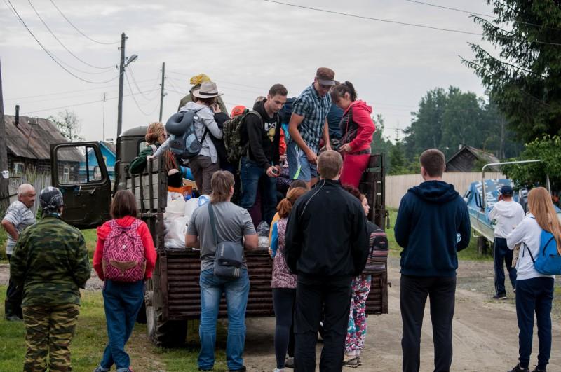 Заброска на Шихан. Поселок Силач, 22.07.2017, ГАЗ-66. Автор: Ирина Биктимирова