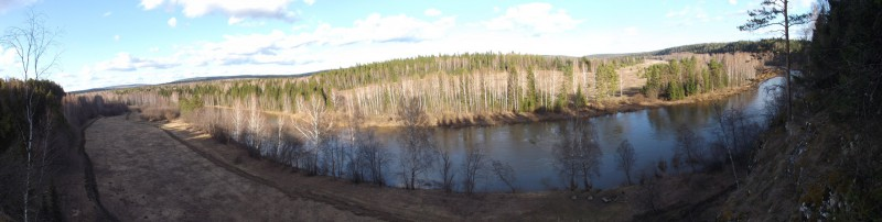 Вид на деревню Родину с Максимова камня. Автор: Михаил Латышев