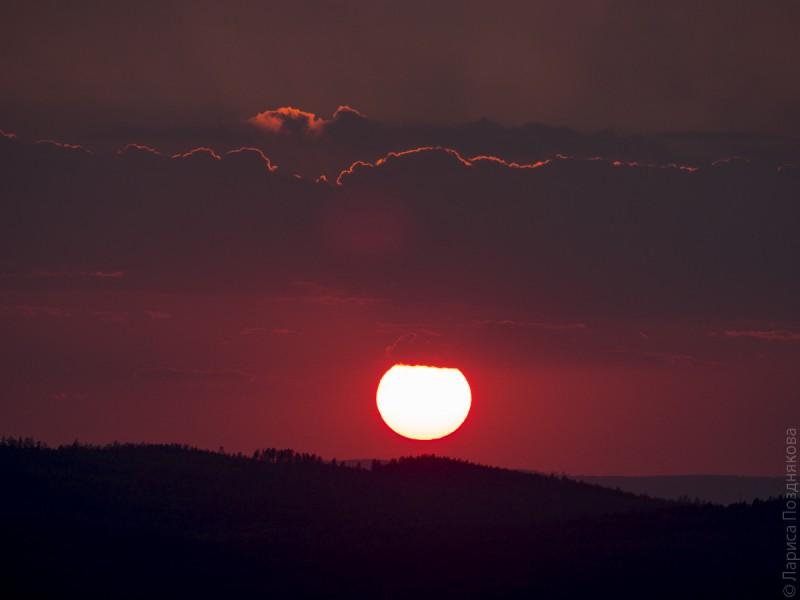 Закат на Аракульском шихане. Автор: Лариса Позднякова