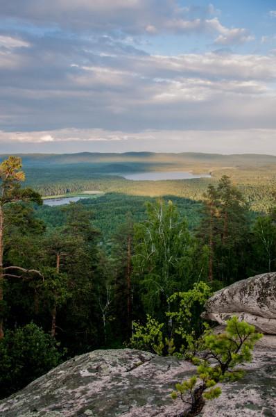 Вид на Озера Малый Каган и Большой Каган 22.07.2017. Автор: Ирина Биктимирова