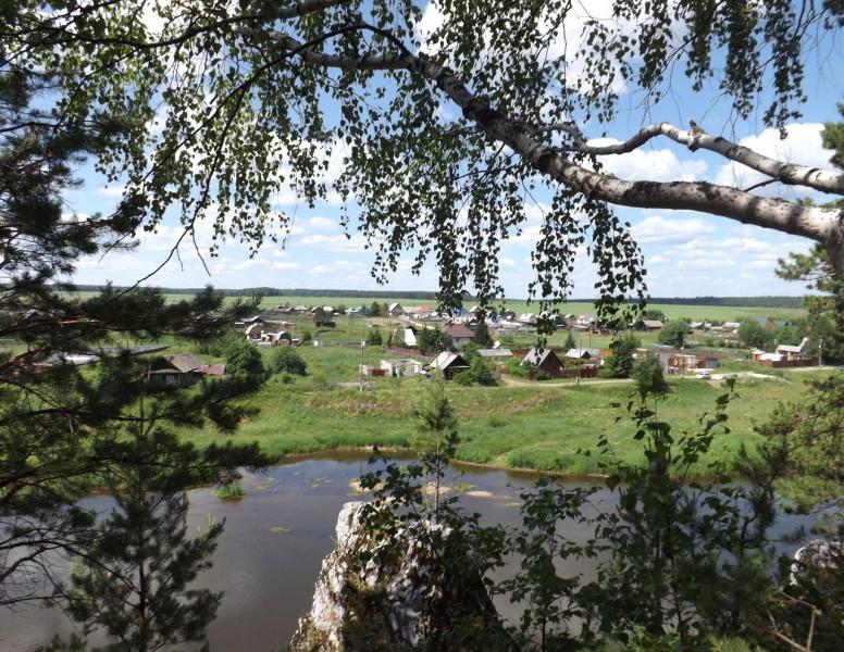 Вид на Нижнее Село с камня Шайтан.. Автор: Михаил Латышев