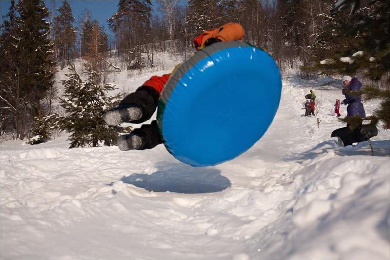 На ватрушке! Снежинка-2011. Автор: Сергей Степанов