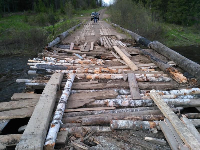 деревянный мост через реку Улс. Автор: Евгений Жаравин