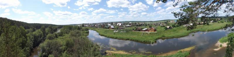 Нижнее Село, вид с камня Шайтан.. Автор: Дмитрий Латышев