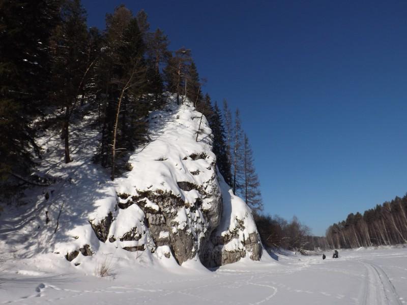 Нижнесельский Сокол оказался сложен двумя огромными каменными пластами.. Автор: Михаил Латышев