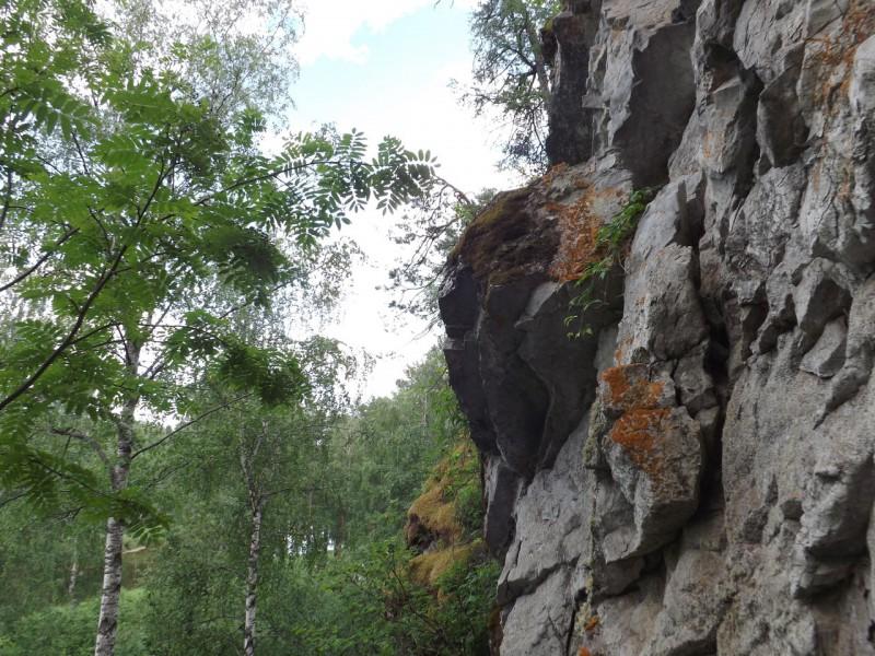 Перед камнем Сокол в лесу возвышается одинокая могучая глыба.. Автор: Михаил Латышев