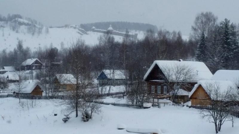 Зимний вид декораций. Автор: Дмитрий Гордеев