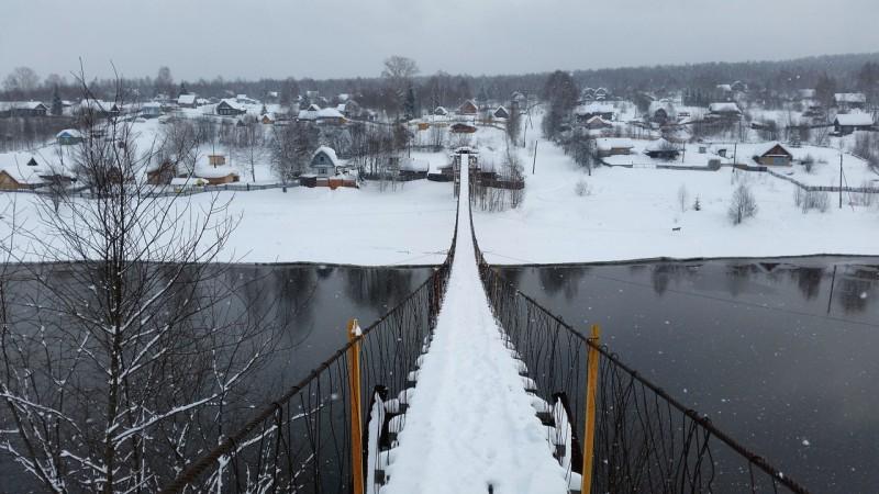 Подвесной мост через Косьву. Автор: Дмитрий Гордеев