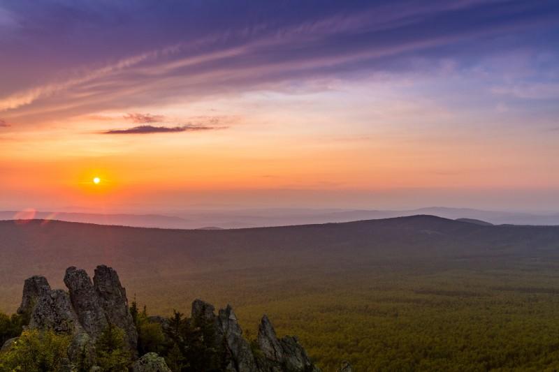 Закатная палитра Таганая. Автор: Игорь Яковлев