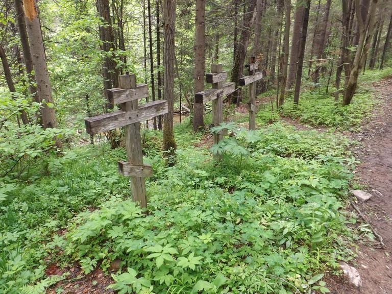 Захоронения подвижников, последователей Платониды. Автор: Дмитрий Латышев