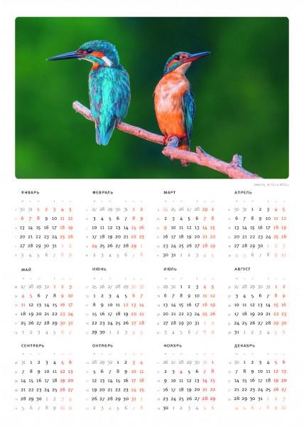 календарь-постер из календаря